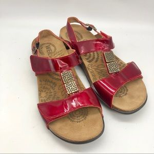 Dr. Andrew Weil X Orthaheel Red Patent sandals